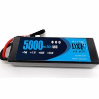 DXF 2S 7.4V 5000mAh 50C LiPo Battery Pack for RC Evader BX Car RC Truck RC Truggy RC Airplane UAV Drone FPV (Hard