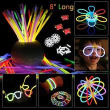 200pcs/set Colorful Glow In the Dark Fluorescence Glow stick Bracelets Necklaces