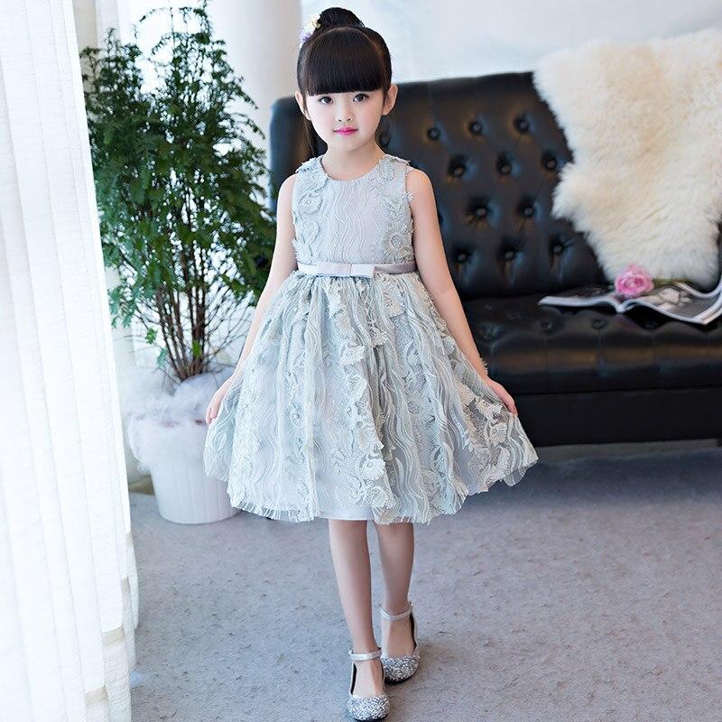 Elegant Off Shoulder Tulle Summer Girls Pageant Dress Flower Girl Dress for Wedding Girl Party Princess
