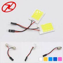 Promotion 1Pcs White T10 24 Smd Adapters COB LED Car Interior Roof Reading Panel Light Dome Festoon BA9S 3Adapter DC 12v