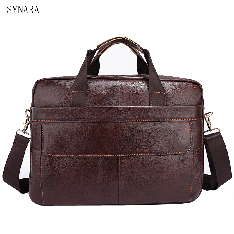 купить 2017 Business Genuine Leather Men Briefcase Cowhide Men's Messenger Bags 14