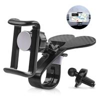 2 in 1 Car Dashboard Phone Holder and Car Vent Cell Phone Mount, 360 Degree Rotation Adjustable Universal Car Phone Clip Holder
