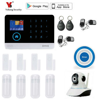 цена на Yobang Security wireless wifi GSM Alarm System Home Security with Wireless PIR Detector Door Sensor wifi Alarm System