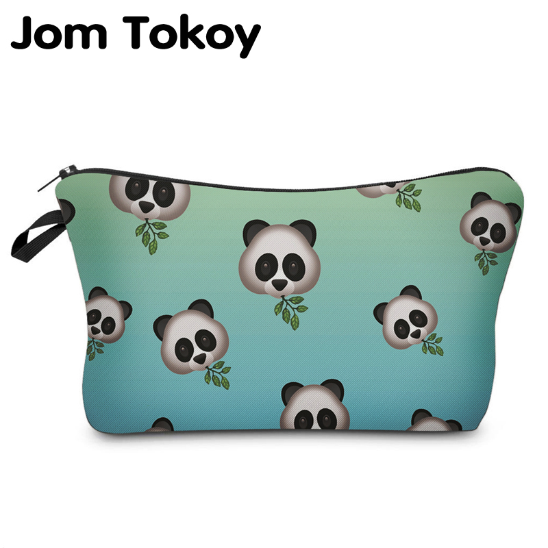 Jom Tokoy Cosmetic Organizer Bag Make Up Printing Panda Cosmetic Bag Fashion Women Brand Makeup Bag