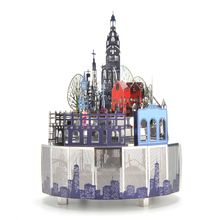 3D Metal Puzzle Model Music Box Christmas Gift Music & Light Music Box Valentine Gift #Castle Style Theme DIY Kids Adult dance king classic music box with rc color light vintage metal diy birthday valentine day gift girl musical boxes christmas gift