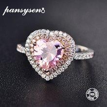 Женское кольцо из серебра 2019 пробы с сердечками 2 карата