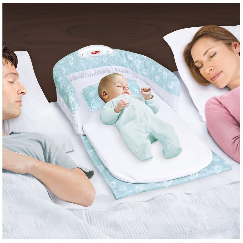 Портативный детские кроватки Многофункциональный складной новорожденных спать в кроватке на кровать моды мать путешествия кровать мешок ...