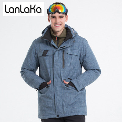 LANLAKA 2018 New Brand Ski Jacket Men Winter Waterproof Coat High-Quality Snowboarding  jackets Cowboy 5b0974eb7