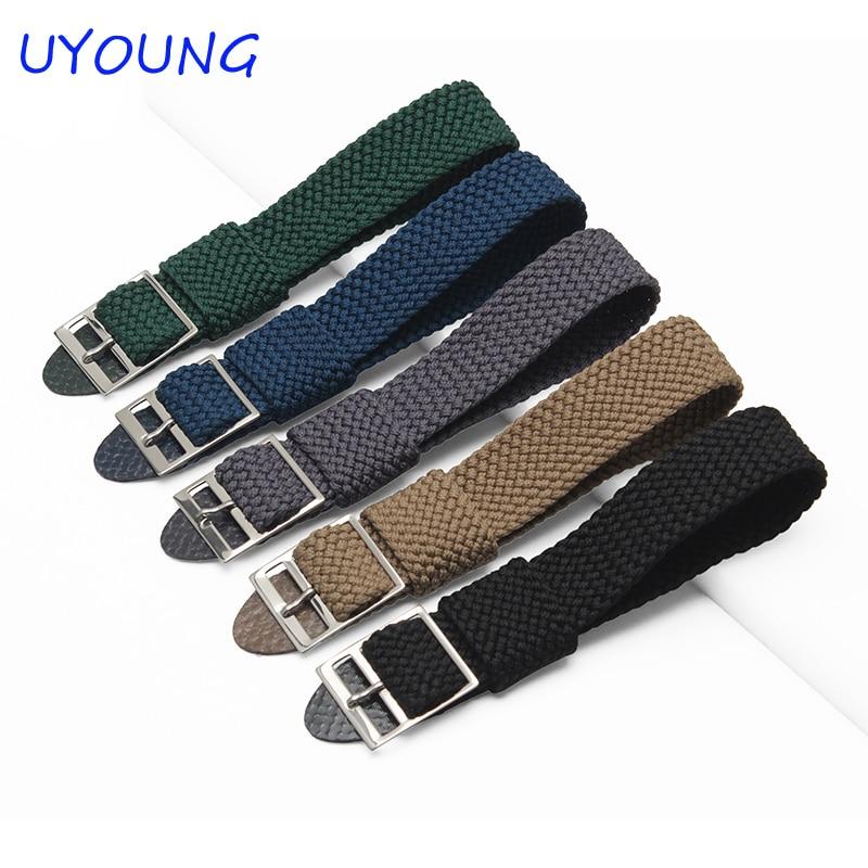 High Quality Hot Sale Fashion Perlon Long Strap Watch 20mm Black/Gray Bracelet Brand Special