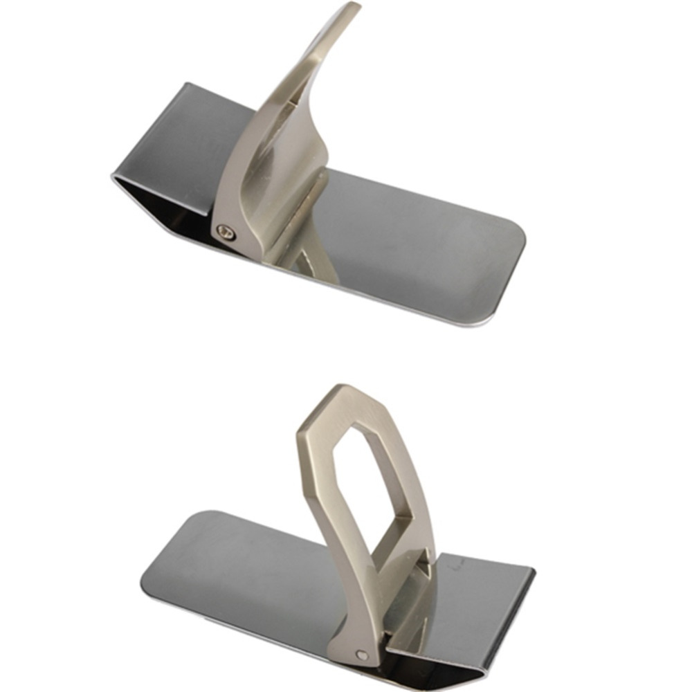 Camping Hiking Tools Money Clamp Credit Card Wallet Practical Pocket Slim Stainless Steel Cash Clamp SS