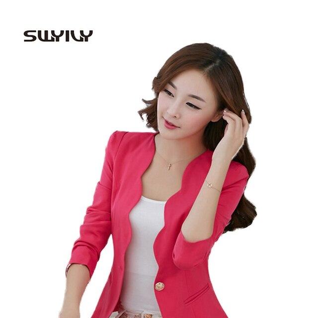 € 43.63  Mujer Traje Chaqueta 2016 Nueva Primavera Señoras Delgadas Coreanas Corta Chaqueta Blanca Para Las Mujeres en Chaquetas y americanas de La