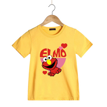 100% Cotton Summer Boys Girls T Shirts Sesame Street ELMO Tees Cartoon Print Child Tops Baby Kid Clothes Children T-Shirts