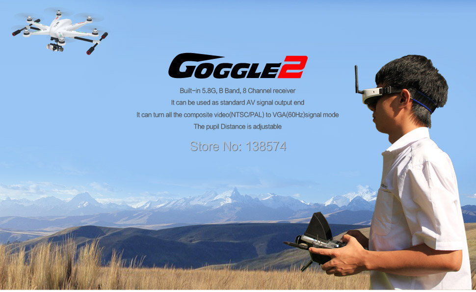 Walkera Goggle2 FPV Video Glasses with Head Tracking System