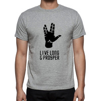 Summer New Star Trek Spock Live Long And Prosper T Shirts Men Cotton Short Sleeve O