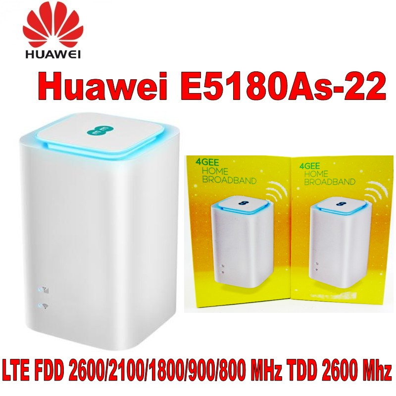 Lot of 100pcs Unlocked Huawei E5180 E5180as-22 4G LTE Cube WiFi Hotspot Home wireless Router unlocked new original huawei e5180 e5180as 22 4g lte cube wifi hotspot router home wireless router with sim card slot