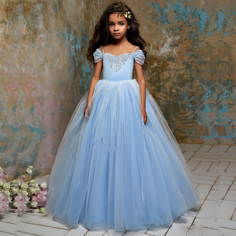 New Arrivals Elegant Flower Girls Tulle Ball Gowns Girl Dresses ...