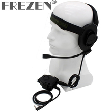 HD01 Z Tactical Bowman Elite II Headset with Peltor Style PTT For Kenwood BaoFeng Two Way Radio UV-5R V2+ UV-82 GT-3 BF-F8HP