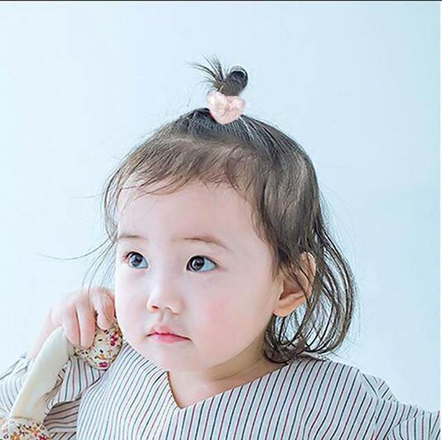 2 pieces Cute Bunny Star Princess Headwear Elastic Hair Bands Girls Sparking Mini Headdress Tie Gum Ropes Hair Accessories A42