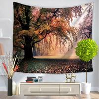 Polyester Tapestry Printed Dusk Scenery Home Decoration Wall Blankets Hanging Mandala Toalla Playa Tapiz Pared Hippie Tapestries
