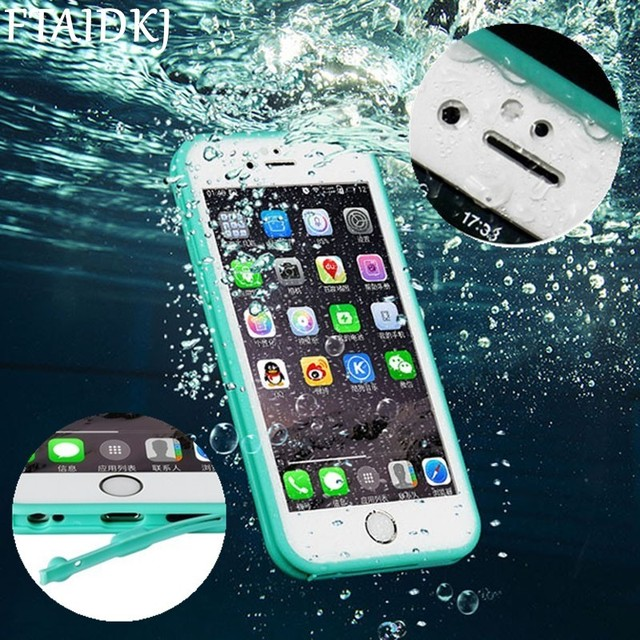 super popular 7b8d0 2c760 US $3.07 25% OFF|FTAIDKJ Shockproof Dustproof Underwater Diving Waterproof  Cover For iPhone XS Max Case XR X 5 5S SE 7 6 6S 8 Plus 360 Full Coque-in  ...