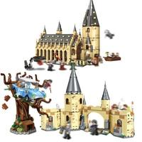 39144 39145 Harry Potter Set Hogwarts Great Hall Model Building Kits Blocks Bricks Educational Toys Compatible 75954 75953