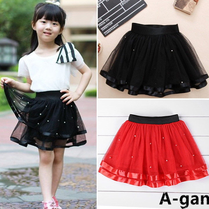 2015 New Casual Mint Satin Red Black Baby Tutu Skirt Trim Kids Summer Fluffy Tutus Girl In Skirts From Mother On Aliexpress