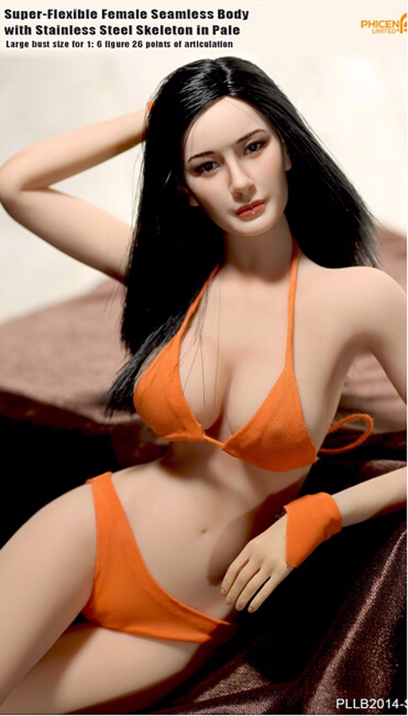 1/6 Action Figure Doll PLLB2014-S07 Large Bust Super Flexible Female Seamless Body for 12 Phicen Dolls Collections