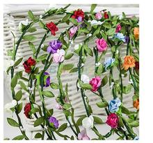 Floral Girl Leaf Hairband Woman Bridal Wedding Flower Crown Hair Accessories Forest Style Flower Wreath Garland Hair
