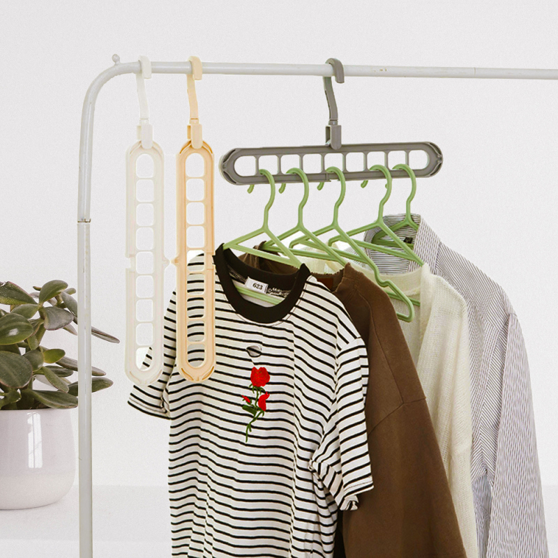 Multi-port Support Circle Clothes Pants Hangers for Clothes Drying Storage Racks Multifunction Plastic Scarf Clothes Hangers