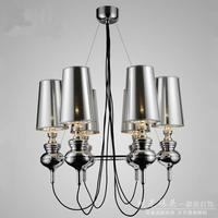 Wrount Irom Modern LED Chandelier Lamps With 6 Lights Chandeliers Free Shipping