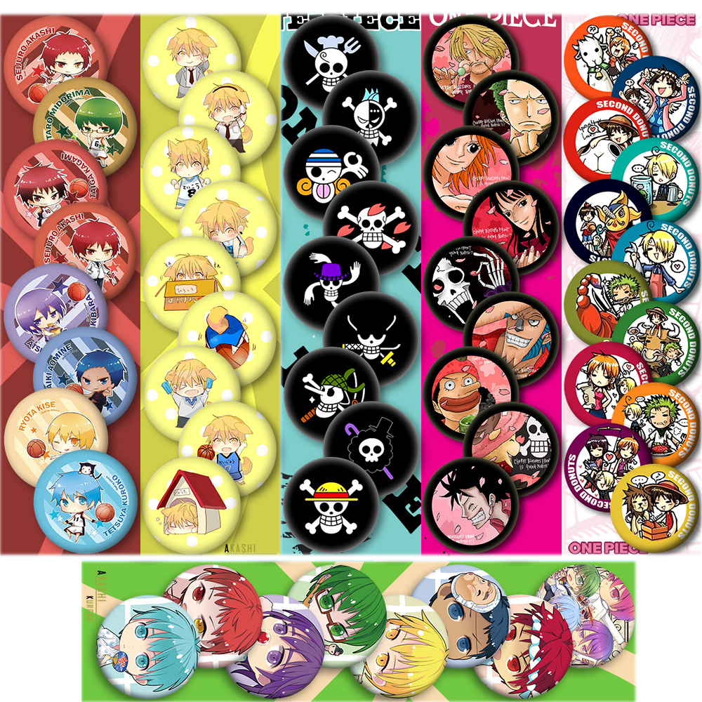 Anime One Piece Cosplay Luffy Badges Anime Kuroko No Basket Cartoon Brooch Pin Collections Cute Badge For Clothes Backpacks