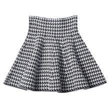 Новинка, Женская плиссированная юбка в Корейском стиле, юбка-зонтик с высокой талией, осенняя трикотажная юбка трапециевидной формы