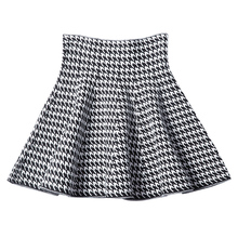 2019 new Womens Korean Version Pleated Skirt  Umbrella Skirt High Waist Bottom Knitted Skirt Autumn A line Skirt
