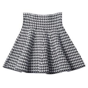 Image 1 - 2019 new Womens Korean Version Pleated Skirt  Umbrella Skirt High Waist Bottom Knitted Skirt Autumn A line Skirt