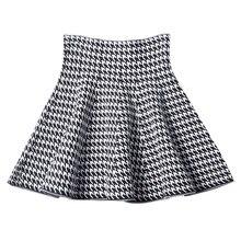 2019 nueva Falda plisada de la versión coreana de las mujeres de la falda del paraguas de la cintura alta de la falda de punto de la falda del otoño de la línea A