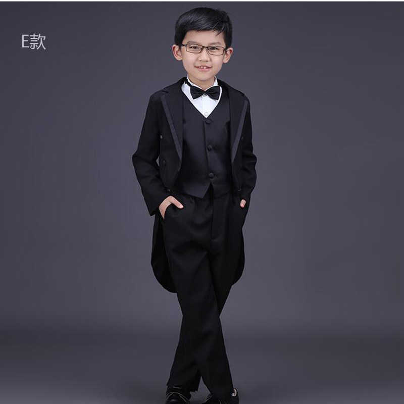ee870132c6163 6 pieces Children's swallow-tailed coat Boys Tuxedo Suit Boys Wedding  Clothes Boys Formal Suit Children Dance costumes Outerwear