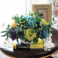 Flower decoration flower artificial flower set french dining table flowers home artificial flower angela flower