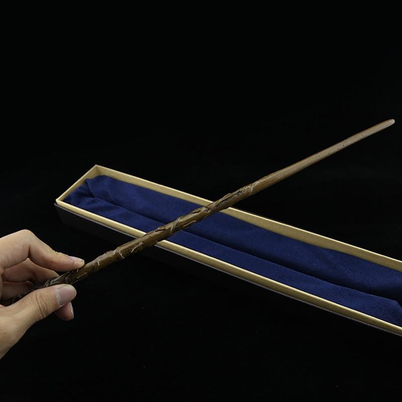 Movie Cosplay Magic Wand Metal Core Hermione Granger Magic Wand Harri Potter Magical Wand High Quality Gift Box Packing