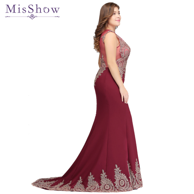 vestidos de festa Long Mother of the Bride Dresses Plus size Evening Dress  2019 Burgundy Party Formal Gown Dresses mermaid dress 21b62e48a7e7