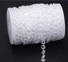 2Rolls(30Meters/roll) Garland Diamond Strand Hanging Crystal Acrylic Bead Curtain Chains Party Tree Wedding Centerpiece Decor