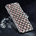 Luxury Hollow Diamond Grid Rhinestones Case For iPhone 7 7 Plus  Soft TPU Plating Glitter Back Cover For iPhone 6 6S Plus 5S SE