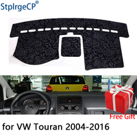 Rose Pattern Non slip Car Dashboard Cover Dash Mat Pad DashMat ANti UV Car Sticker for Volkswagen touran 2004 2016 Car Styling