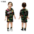 2-8 Anos de Idade Meninas Saia Terno Meninas Camuflagem Terno de Saia Meninas roupas T-shirt + Short Terno de Saia Para As Meninas Fantasias Para Crianças