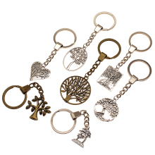 Life Tree Charms Round Of Key Chain Gift For Diy Handmade Gifts