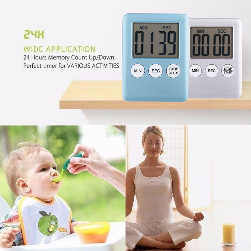 Cooking Timer Coutdown Alarm Clock Pizza LED Digital Home Magnetic Restaurant Yoga Multifunctional Convenient Food Preparation