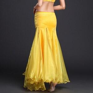 Image 5 - Rumba,Cha cha dance skirt girls belly dance clothes skirt luxury velvet  of skirt sexy fashion dress of women belly dance skirt
