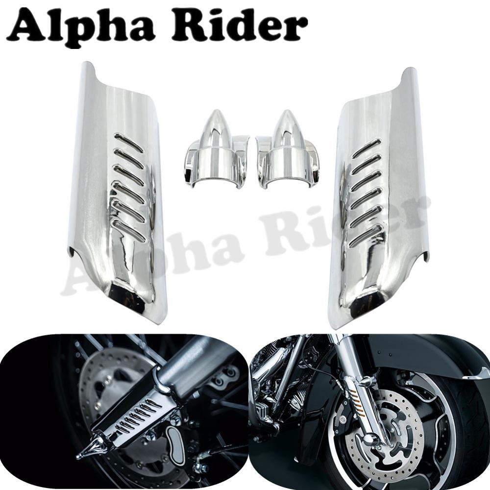 Motorcycle Lower Fork Leg Cover Guard Deflector Shield for Harley Touring Street Electra Tri Glide Road King Custom FL 2000-2013 brand new mid frame air deflector trims for harley cvo limited road king electra glide street electra tri glide flhx 2009 2016