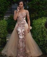 Потрясающее чёрное платье для выпускного вечера с v образным вырезом и пайетками цвета шампанского с кисточками в африканском стиле с длинн