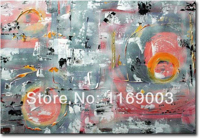 Cheap Abstract modern colorful canvas art font b knife b font paint famous oil painting only