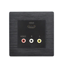 86x86MM Wall Socket HDMI + 3RCA Plug-in Socket AV Audio And Video HDMI HDTV 3D Wall Plug Multimedia HD Socket the new plug in the whole copper waterproof floor socket ground socket damping buffer audio and video to plug